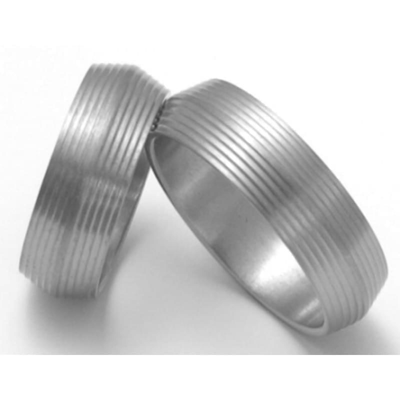 Titanove Snubni Prsteny Stt1700 Silvertime