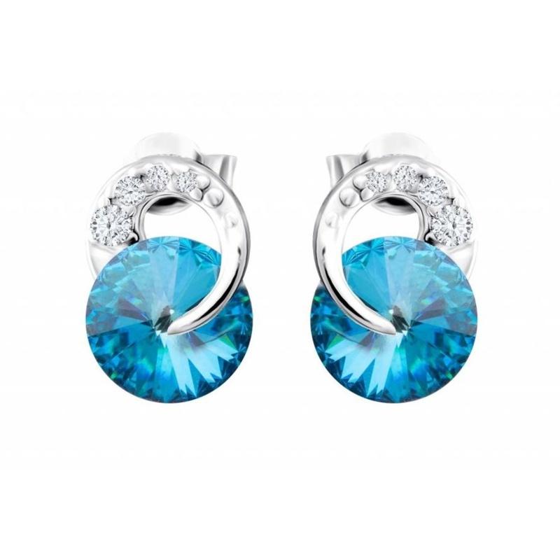 72b46bc03 Stříbrné náušnice Preciosa Gentle Beauty 6767 46 modré - Silvertime