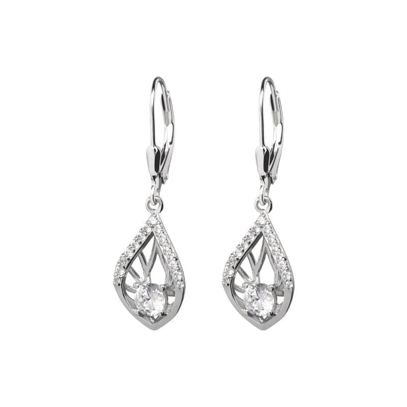 6797da937 Stříbrné náušnice Preciosa Touch of Elegance 5216 00 krystal ...
