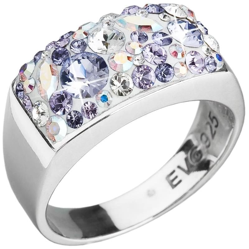 Stribrny Prsten S Krystaly Swarovski Elements Fialovy 35014 3 Violet