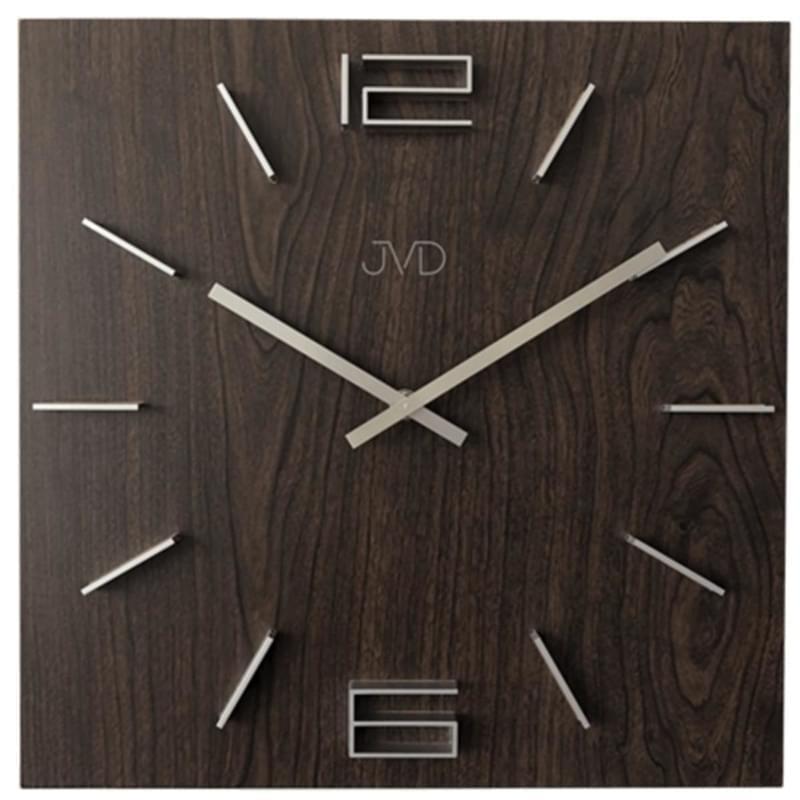 Designové nástěnné hodiny JVD HC30.3 hnědé - Silvertime 415653f1daf