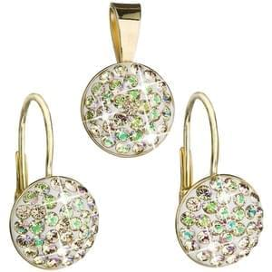 Souprava Swarovski Elements 39086.6 luminous green